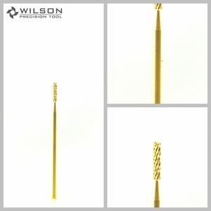 Image 1 - 2pcs   Round Bit Oro/Argento WILSON Carburo di Punte di Trivello del Chiodo