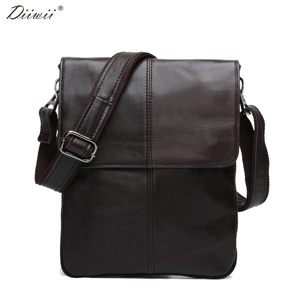 ФОТО Diiwii New men briefcase vintage shoulder cowhide leather bags crossbody bags Real Genuine Leather men messenger bag casual 2017