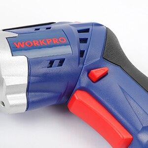 Destornillador inalámbrico WORKPRO 3,6 V destornillador eléctrico plegable destornillador recargable con luz de trabajo