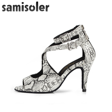 Samisoler  dance shoes leather Ballroom women Fashion Salsa Women tango jazz Latin Dance Shoes Professional S