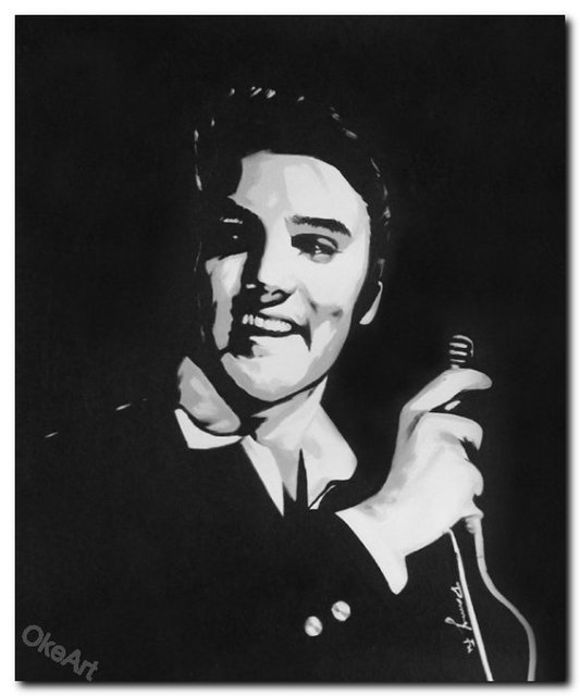 High quality elvis presley portrait pop art prints on canvas