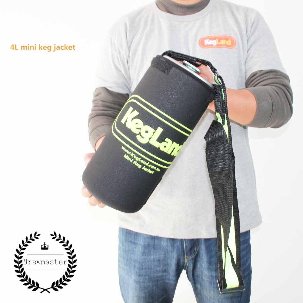 Neoprene Parka  keg jacket  for 4L 5L 10L mini keg keep beer cooler   home brew|Beer Brewing| |  - title=