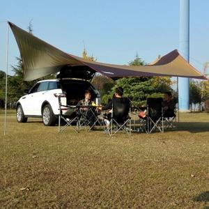 Image 5 - الصحراء والثعلب التخييم الشمس المأوى ، 5 8 شخص مقاوم للماء والأشعة فوق البنفسجية حماية الشاطئ الشمس الظل ، 18x18.4 قدم كبيرة في الهواء الطلق خيمة الأقمشة
