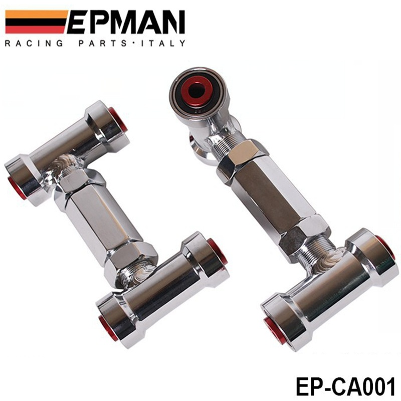 ФОТО EPMAN ADJUSTABLE FRONT UPPER CONTROL ARM/CAMBER KIT / ARMS ADJUSTABLE (Red) FOR NISSAN Z32/R32 EP-CA001