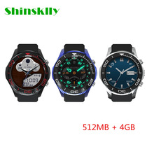 Shinsklly S1 Fashion Smart Watch  MTK6572 double core 1.2GHZ 512MB 4GB Bluetooth 4.0 Android 5.1 OS  2MP camera smart watch