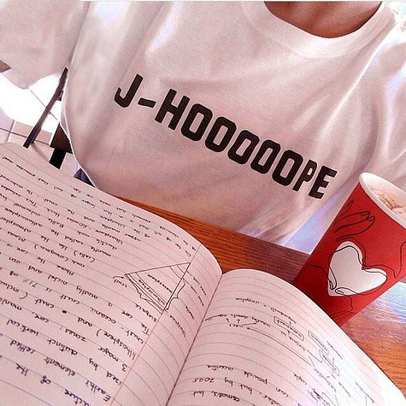 2018 Cotton T-shirt BTS J-HOOOOOPE TShirt Unisex Womens Mens Fashion Tee Short Sleeve Tu ...
