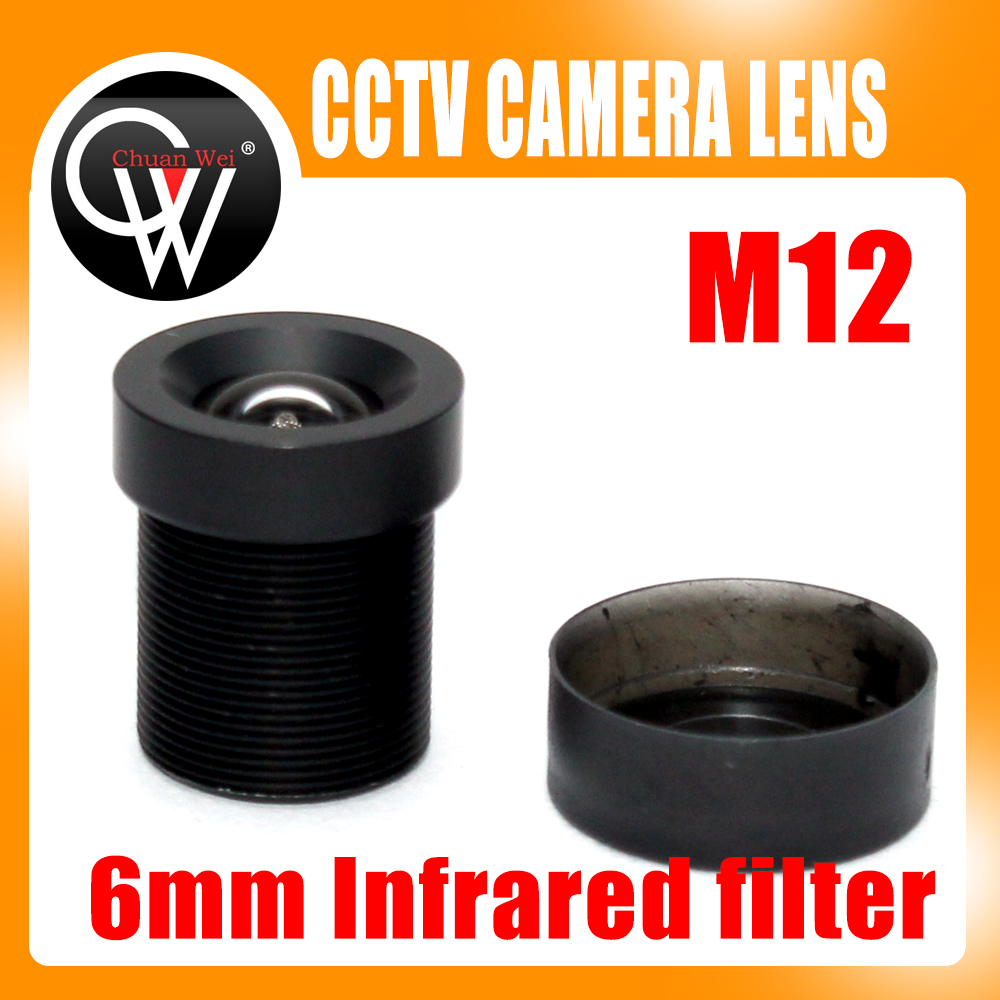 10pcs High Quality 6mm cctv lens mtv Infrared filter cctv camera m12 mount lens for security cctv camera high quality metal material hd ir cut filter m12 0 5 lens mount double filter switcher for ip camera cctv camera