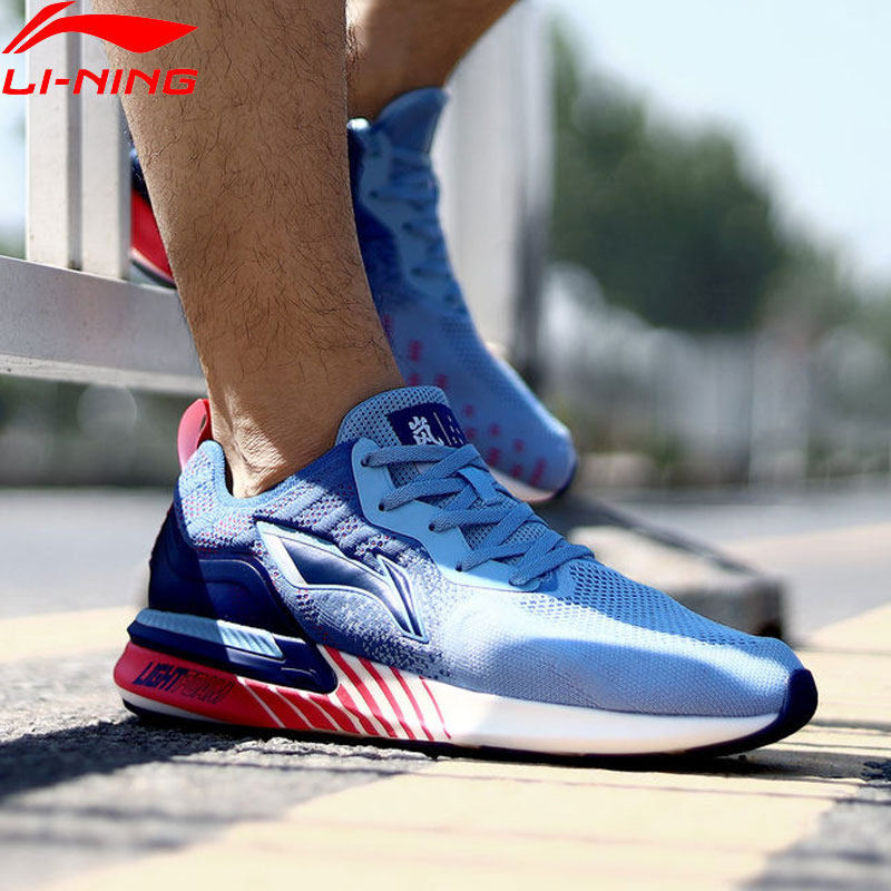 Li-Ning Men ARASHI Cushoin Runing Shoes LIGHT FOAM LiNing Li Ning Mono Yarn Breathable Sport Shoes Sneakers ARHP171 XYP931