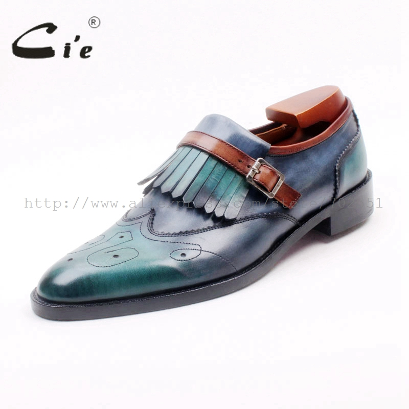 cie Round Toe Full Brogues Cut-Outs Tassels Buckles Loafer 100%Genuine Calf Leather BreathableOutsole Man's Flats Shoe Loafer169