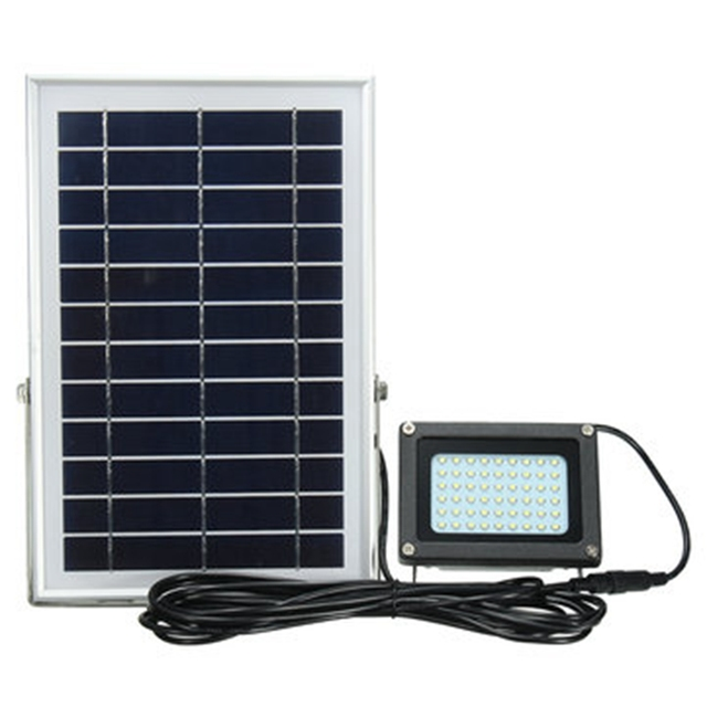 Outdoor Waterproof  54 LED Solar Power Modes 5m Cable Automatic Solar Powered LED Flood Lamp Security Light for Garden Yard Wall