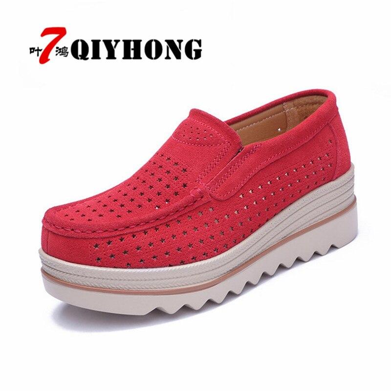 Beige En Cuir noir Glissement Mocassins Sur Sneakers gris Creepers Daim Évider rouge forme Chaussures Plate Womenbreathable Casual Talons Appartements bleu nq0wYZng