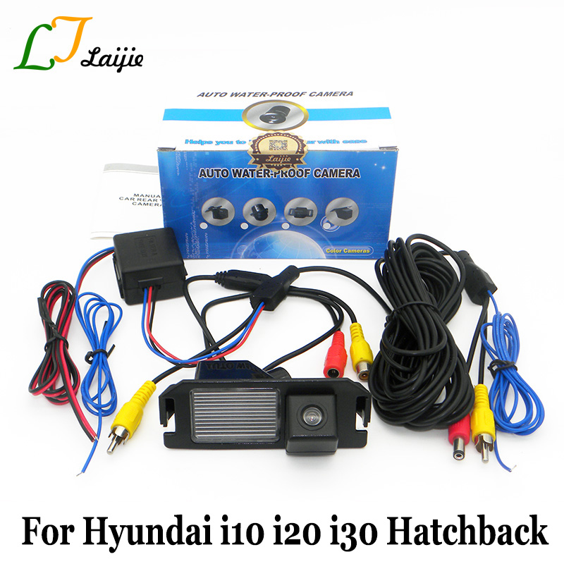 Laijie For Hyundai i10 i20 i30 Hatchback / Car Reverse Parking Camera / HD CCD Night Vision Auto կրկնօրինակում Հետևի տեսախցիկ / NTSC