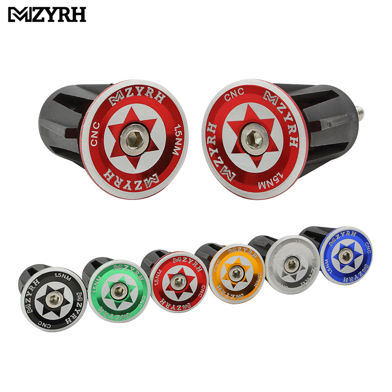 MZYRH Bicycle Grips Handlebar Caps Aluminum End Plugs MTB Mountain Bike Handlehar Ends Road BMX Cycling Bicycle Accessories