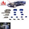 PRECISION AUTO LABS Universal Kit Sleeving Braide Mangueira Do Motor e Da Extremidade Da Luva de Aço Inoxidável BULE de Prata