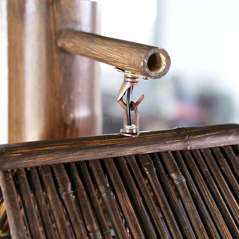 Bamboo lamp decorative wall lamp creative aisle Cafe antique farmhouse handmade bamboo hone lighting wall lights ZA zb51