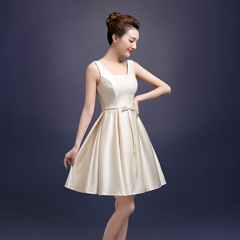 1c44cc27a99f 2018 new word shoulder bridesmaid dress short paragraph spring and summer bridesmaid  dress Mission Sisters skirt banquet women-in Bridesmaid Dresses from ...