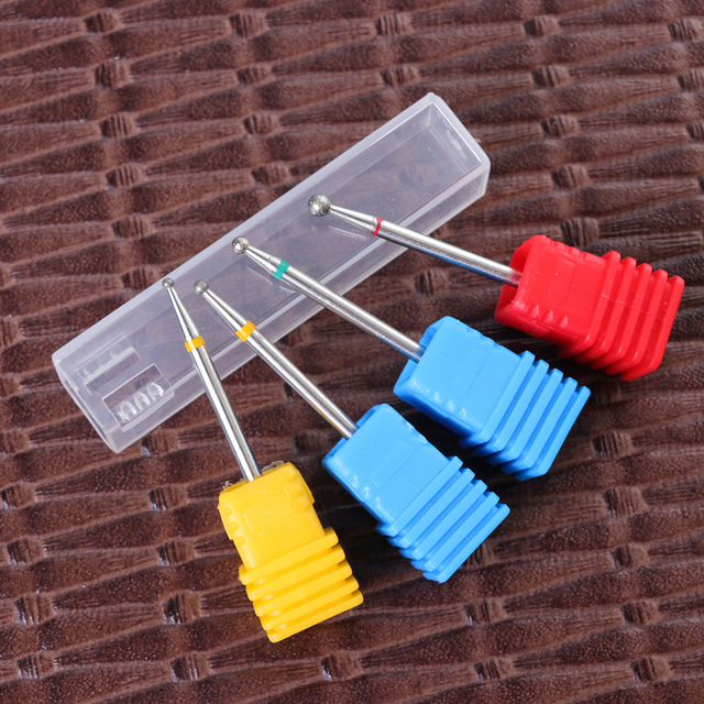 22 Types Diamond Ceramic Rotary Burr Nail Files Cuticle Clean Mills Brush for Electric Manicure Nail Drill Accessories CHGS/M/S