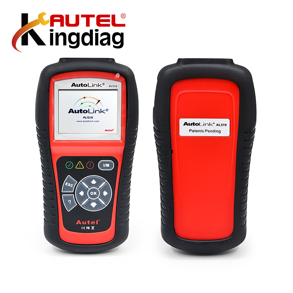 Autel AutoLink AL519 Auto Code Reader OBD II& CAN Scan Tool al 519 Retrieves generic Turns off Check Engine Light free update 100% original autel autolink al519 code reader obdii eobd can scan tool updated online autolink al519 scanner free shipping