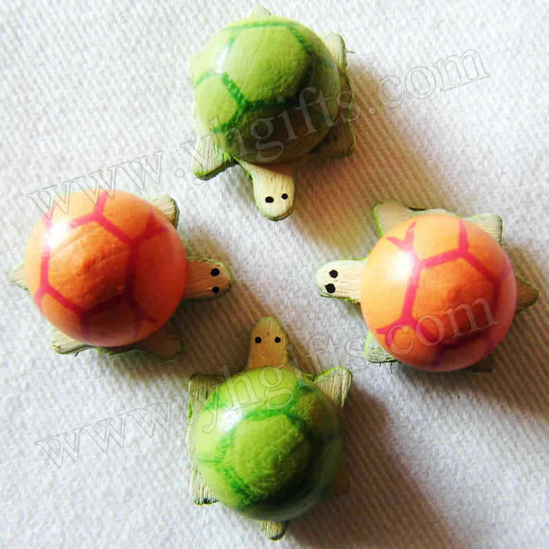 100PCS/LOT.Wood turtle stickers,Kids toys,scrapbooking kit,Early educational DIY.Kindergarten crafts.Classic toys.2.1x1.6cm