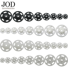 JOD 10Pcs Lot 7/10/13/15/18/21/25mm mini White Black Small ABS plastic Snap Fasteners Press Button Stud sewing accessory