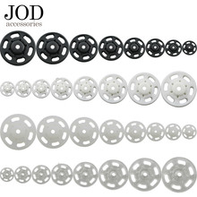 JOD 10Pcs Lot 7/10/13/15/18/21/25 Mm Mini Putih hitam Kecil ABS Plastik Snap Pengencang Press Stud Jahit Aksesori(China)