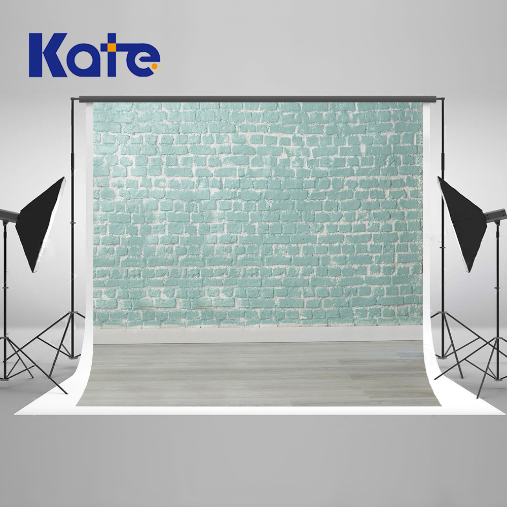 Kate 10x20ft Baby Green Brick Wall  Backdrops For Photography Studio Wood Floor Photo Background Children Photography Backdrops shengyongbao 300cm 200cm vinyl custom photography backdrops brick wall theme photo studio props photography background brw 12