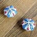 2 PCS 48mm pintado à Mão País Folha Flor de abóbora cerâmica puxadores puxadores de gaveta do armário porta puxa Móveis puxadores De Porcelana