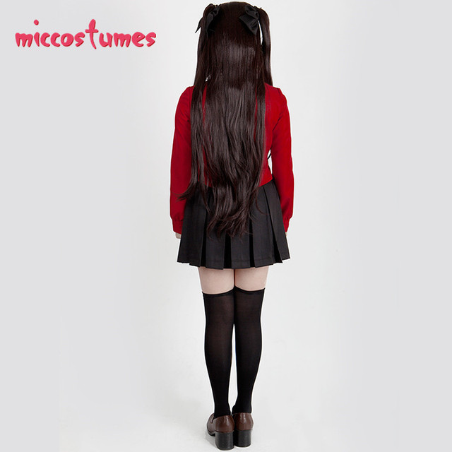Destin séjour nuit Rin Tohsaka déguisement Cosplay femmes haut rouge jupe tenue Halloween