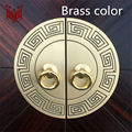 11cm 14cm 18cm 24cm Chinese antique furniture copper fittings door wardrobe cupboards doorplate round copper pull hands 2 Color