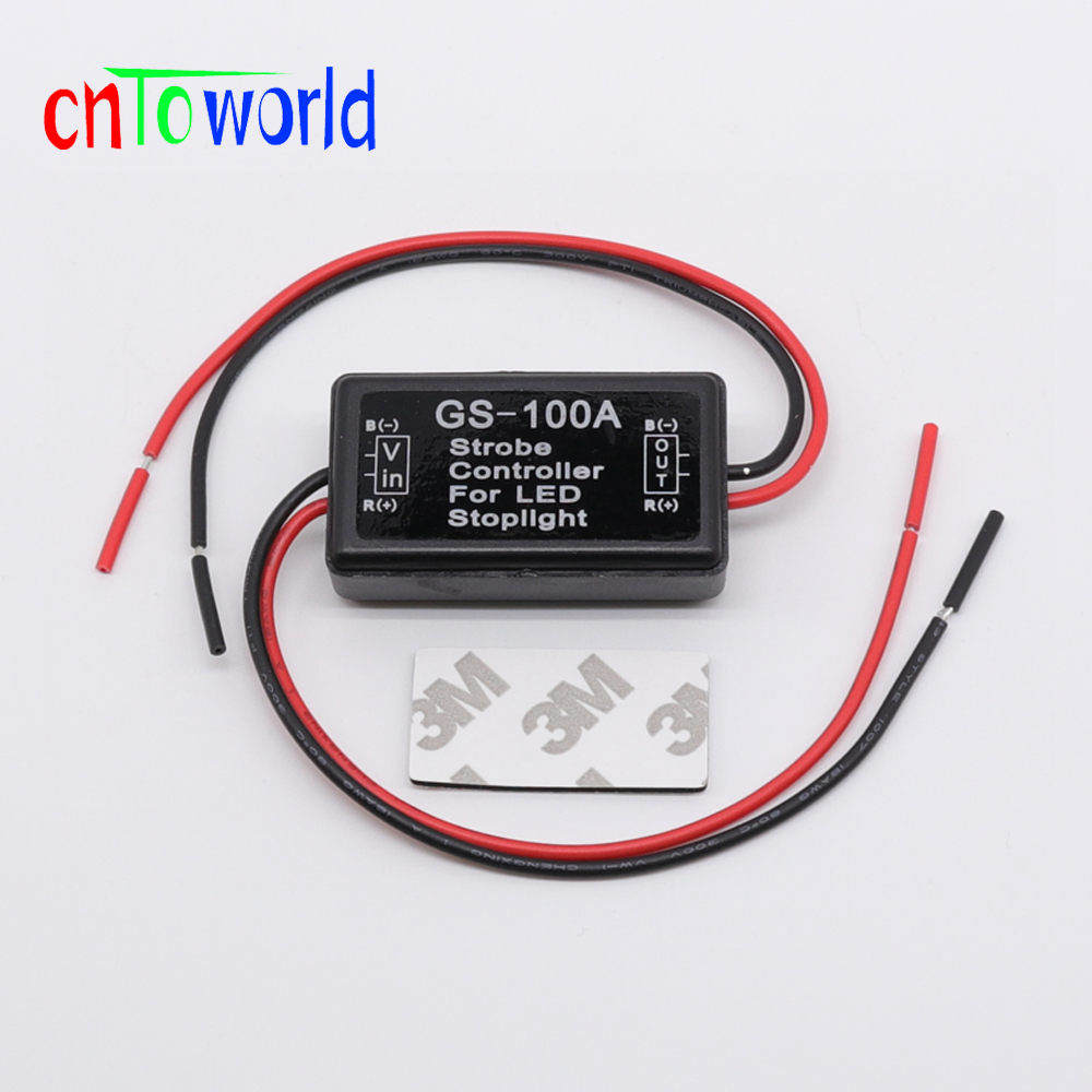 Gs 100a Flashing Controller Intelligent Brake Taillights Led Strobe Light Circuit With Chasing Effects Electronic Universal Flash Flasher Module For Stop Lamp
