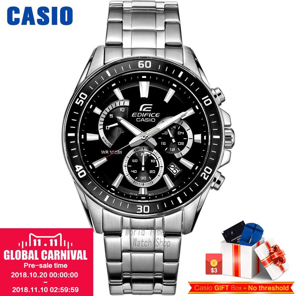 CASIO часы мужские | Модные деловые повседневные водонепроницаемые кварцевые мужские часы EFR-552D-1A EFR-552D-1A2 EFR-552GL-7A EFR-552L-2A
