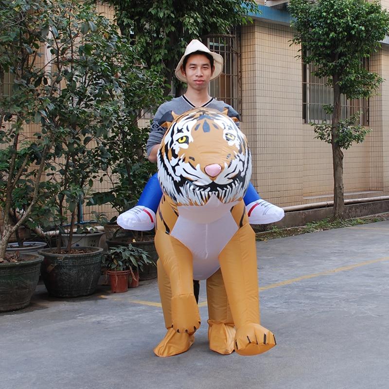 cfbe3ba5c Cosplay INFLATABLE TIGER FANCY DRESS COSTUME SAFARI ZOO SUIT halloween  Costume for Women Men Inflatable Tiger Costume
