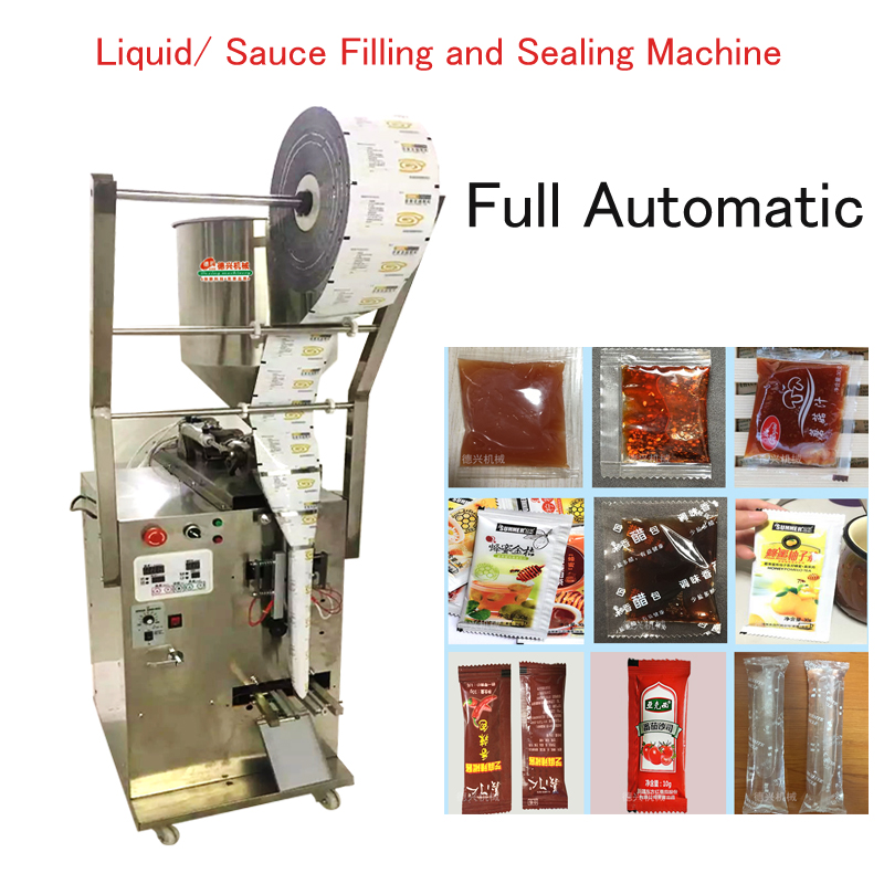 Full Automatic Liquid/ Sauce Packing Machine  Liquid/paste/chili/oil filling and sealing machine MG-600 double nozzle filling machine for cosmetic paste like honey cream sauce