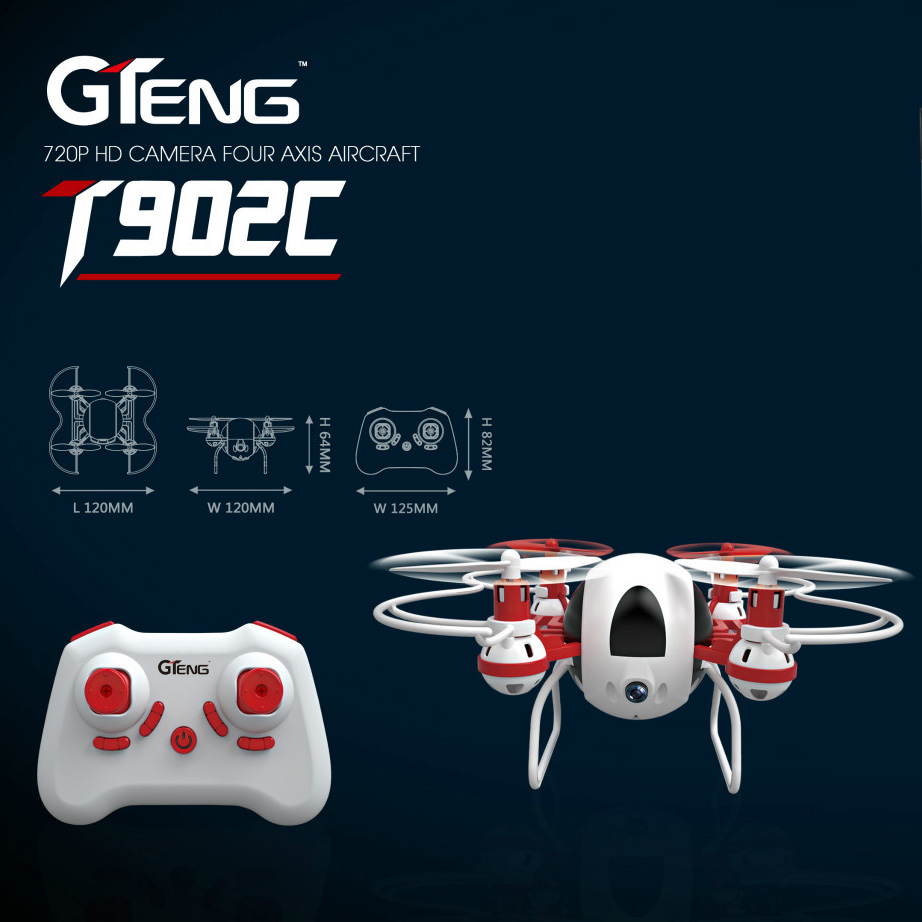 RC Drone T902C Professional Quadcopters with Camera 2.4G 6-Axis 4CH Helicopter Headless Selfie Drone Camera Real Time Video Toy jjr c jjrc h43wh h43 selfie elfie wifi fpv with hd camera altitude hold headless mode foldable arm rc quadcopter drone h37 mini
