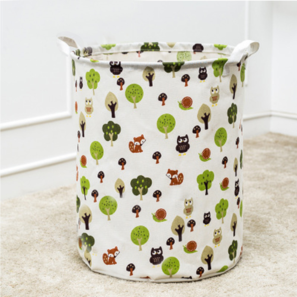 Cartoon Baby Kid Toys Storage Canvas Bags Bear Laundry Basket Clothes Bags