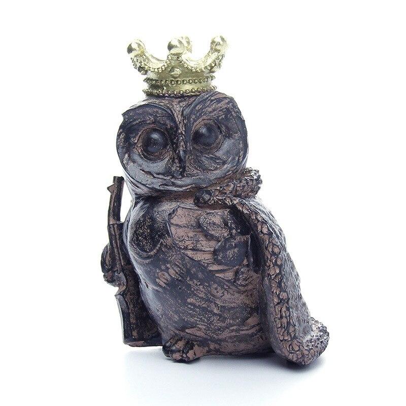 Hibou Animal résine ornements décoration de la maison cadeaux pratiques étrange nouveaux ornements créatifs nouveau salon chambre décoration