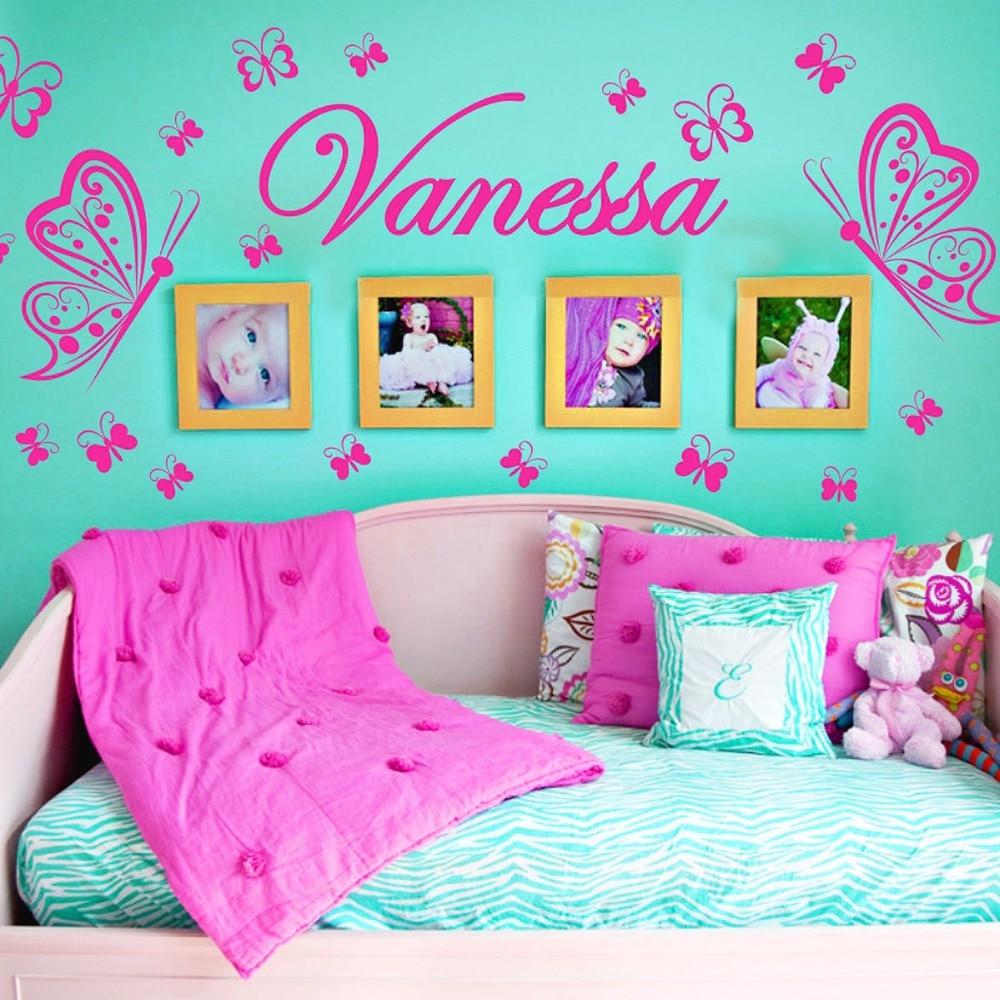 Mariposa personalizada DIY Viny decoración moda pared arte vivero - Decoración del hogar - foto 1
