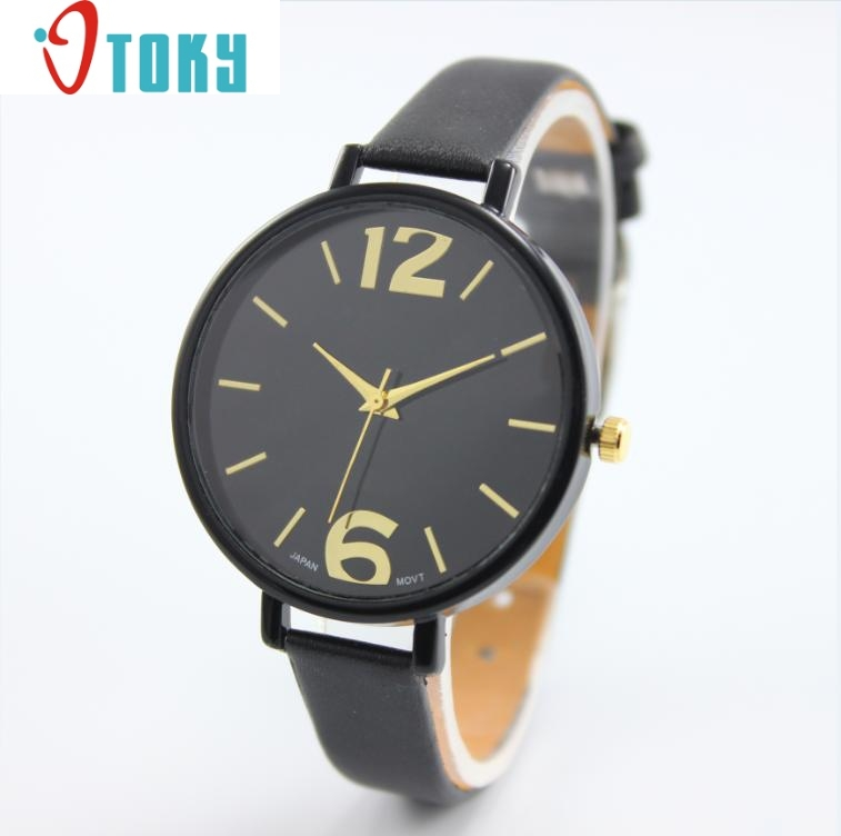 Hot hothot Geneva watches Women Girl Faux Leather Analog Quartz Wrist Watch Dropshipping hot hothot sales colorful boys girls students time electronic digital wrist sport watch free shipping at2 dropshipping li