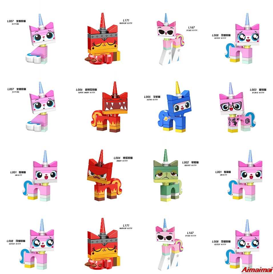 Legoings unikitty blocos de construção figuras disco kitty tijolos brinquedos meninas amigos princesa iluminar presentes unikittys legoings brinquedos