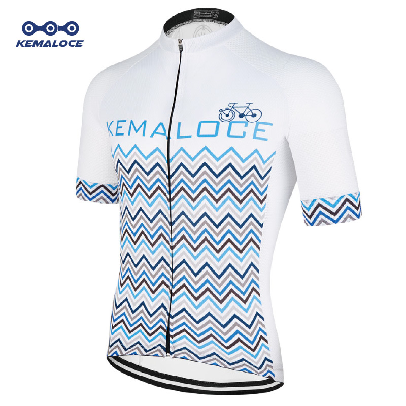 2435de0c5 2018 Classical Team Cycling Jersey Tops Breathable Coolmax White Dry Fit  Bicycle Shirts Sublimated Short Sleeve Race Bike Jersey-in Cycling Jerseys  from ...