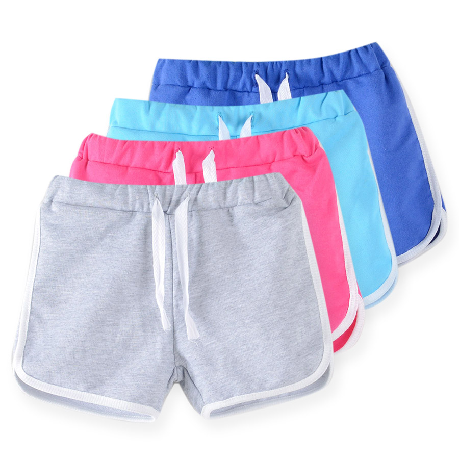 Sheecute crianças roupas novos doces cor meninas curto quente verão meninos praia calças shorts 0902