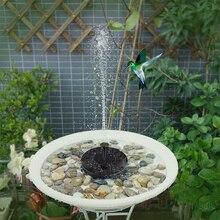 Pompe de fontaine à énergie solaire flottante à eau pompe de fontaine solaire Kit de pompe de fontaine de bain doiseau sans brosse avec différentes têtes de pulvérisation