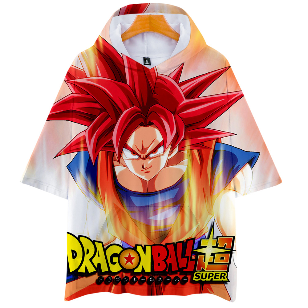 2019 print Dragon Ball Super Broly Anime 3D Short sleeve Hooded Men Women New Style 2019 Fashion Streetwear Tee Shirts 4XL in T Shirts from Men 39 s Clothing