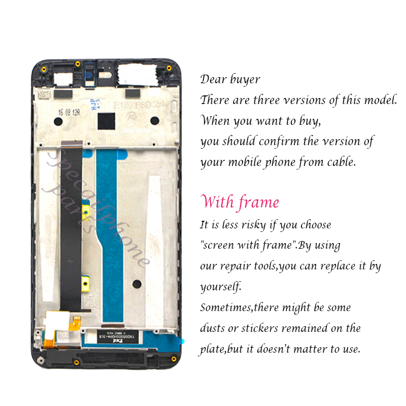 Image 2 - With frame For ZTE Blade A610 LCD Display Touch Screen HD Digitizer Assembly For ZTE Blade A610/A241 Version 318 Version Lcd-in Mobile Phone LCD Screens from Cellphones & Telecommunications