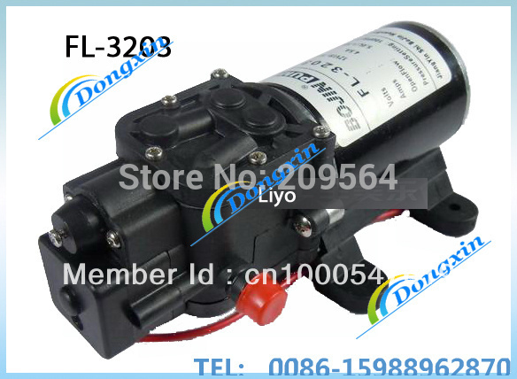 ФОТО DC pump 12v mini DC water pump (FL-3203 5.0L/MIN 100PSI 7.0BAR Black color long life) option 1