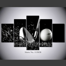 Newest Hot Selling 5 Panels Golf Printed Canvas Painting High Quality Golf  Printed Wall Art Picture HD Poster Part 68