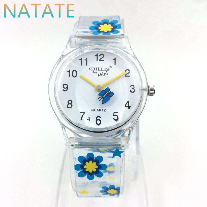 NATATE Silicone Transparent Strap Design Willis Mini Fashion Women Water Resistant Analog Wrist Woman Dress Quartz watch WH0017