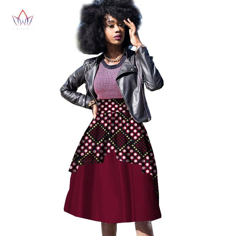 Nové plavky Riche Africké oblečení pro ženy Dashiki African Wax Print Kolenní šaty Plesové šaty s dvojitou vrstvou WY1200