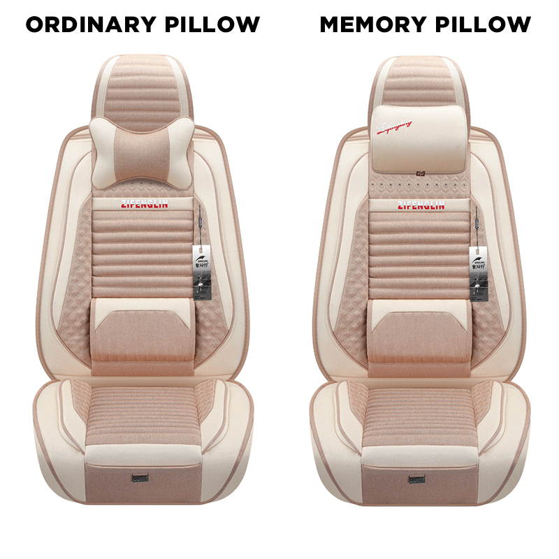 Odd Dream 5 seat Automobiles Seat Covers with Memory Cotton Headrest Universal Size Car Seat Cover Auto Interior Accessories in Automobiles Seat Covers from Automobiles Motorcycles