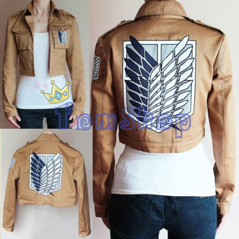 Attack on Titan Shingeki no Kyojin Scouting Legion Cosplay Costume Unisex Coat Jacket Eren Jaeger Mikasa Ackerman